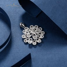 Pouca Diamond Pendent 18K White Gold