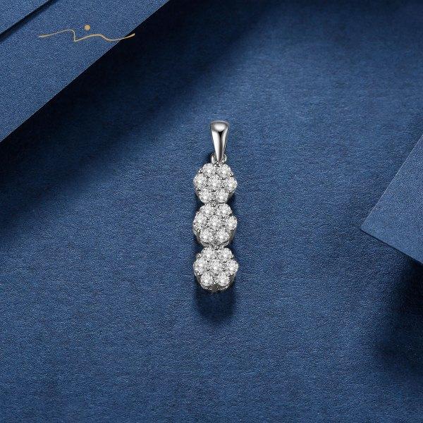 Belisse Diamond Pendent 18K White Gold