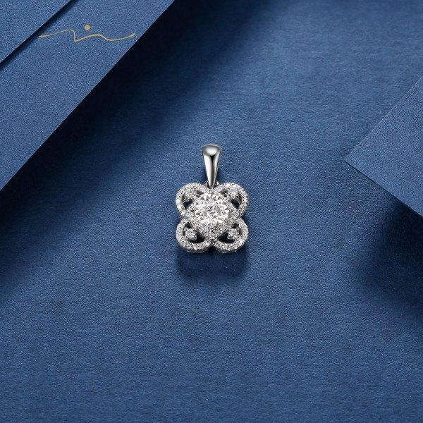 Setelin Diamond Pendent 18K White Gold