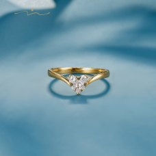 Meyal Diamond Ring 18K Yellow Gold