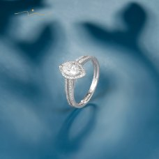 Tepolen Diamond Ring 18K White Gold
