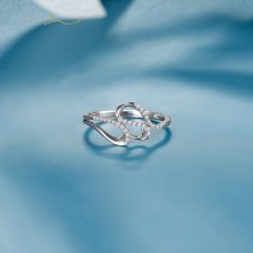Deelon Diamond Ring 18K White Gold
