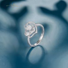 Pasring Diamond Ring 18K White Gold