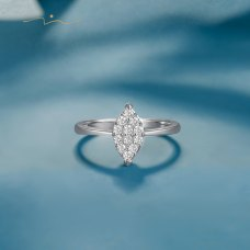 Eason Diamond Ring 18K White Gold