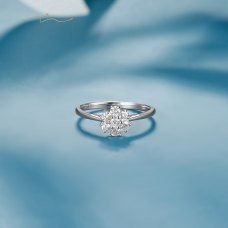 Matefrin Diamond Ring 18K White Gold
