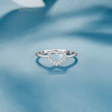 Butrins Diamond Ring 18K White Gold