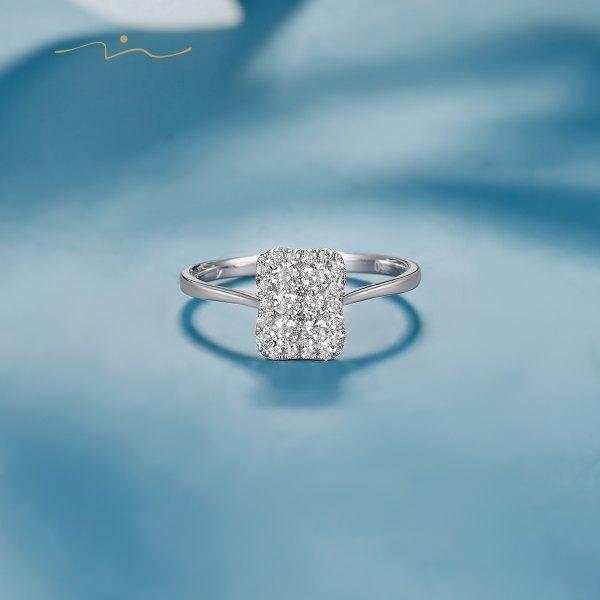 Mederine Diamond Ring 18K White Gold