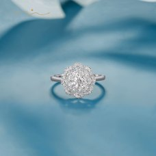 Erica Diamond Ring 18K White Gold