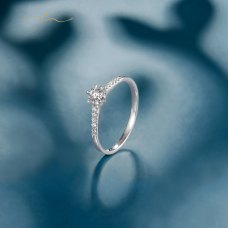 X'sen Diamond Ring 18K White Gold