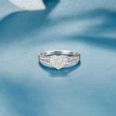 Nugitem Diamond Ring 18K White Gold