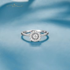 Twen Diamond Ring 18K White Gold