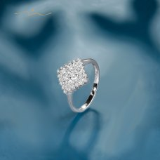 Masa'O Diamond Ring 18K White Gold