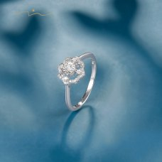 Delio Diamond Ring 18K White Gold