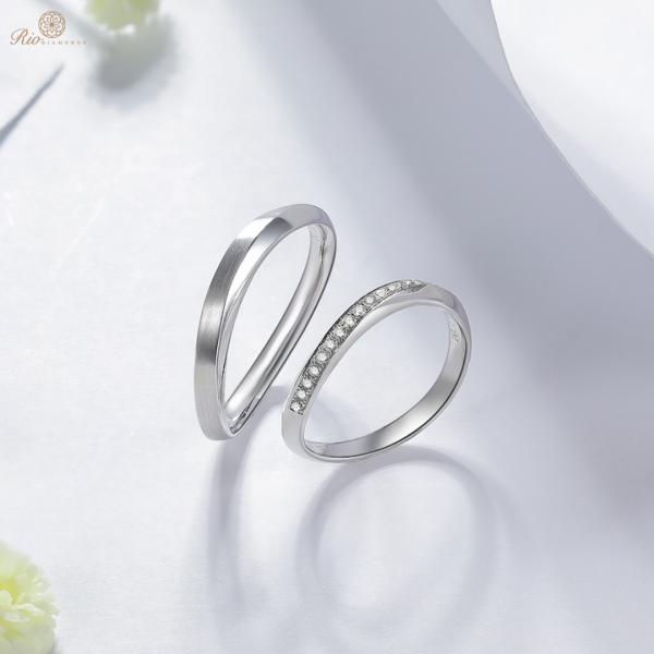 Miral Diamond Wedding Ring 18K White Gold (Pair)
