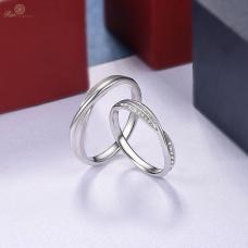 Ava Diamond Wedding Ring 18K White Gold / Platinum (Pair)