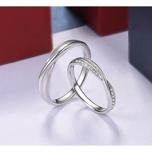 Ava Diamond Wedding Ring 18K White Gold(Pair)