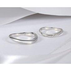 Miral Diamond Wedding Ring 18K White Gold(Pair)