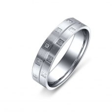 Desrio Diamond Wedding Ring in 18K White Gold(Pair)