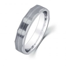 Axel Diamond Wedding Ring in 18K White Gold(Pair)