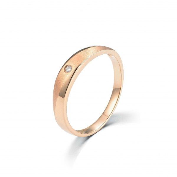 Stellar Women's Diamond Wedding Ring 18K Rose Gold