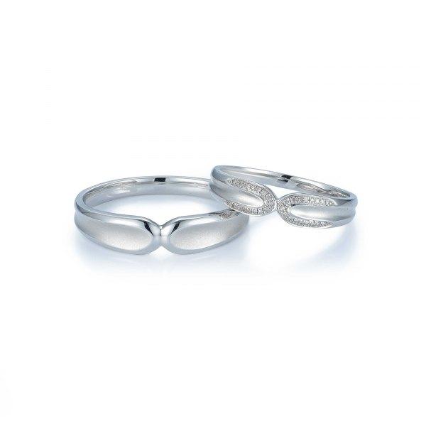 Sphnix Diamond Wedding Ring 18K White Gold