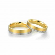 Dorul Diamond Wedding Ring 18K White Gold (Pair)