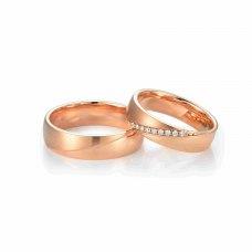 Harlyn Diamond Wedding Ring 18K Rose Gold (Pair)