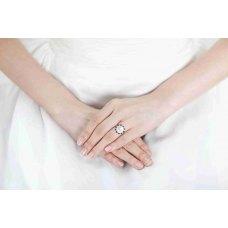 Lofoi Blue Sapphire and Pearl Diamond Ring