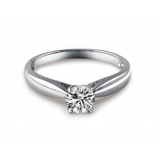 Pascaline Solitaire Engagement Ring Casing 18K White Gold