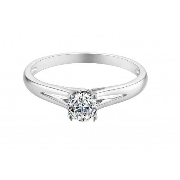 Duchian Solitaire Engagement Ring Casing 18K White Gold