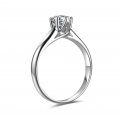 Purine Solitaire Engagement Ring Casing 18K White Gold