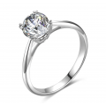 Belle Solitaire Engagement Ring Casing 18K White Gold