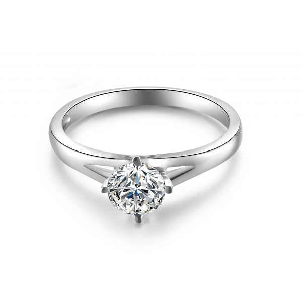 Tintref Solitaire Engagement Ring Casing 18K White Gold
