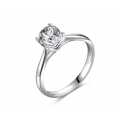 Goralian Solitaire Engagement Ring Casing 18K White Gold