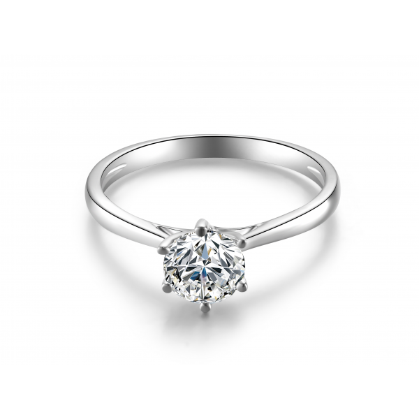 Stanzie Solitaire Engagement Ring Casing 18K White Gold