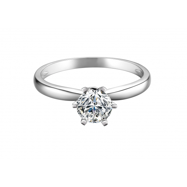 Herisan Solitaire Engagement Ring Casing 18K White Gold