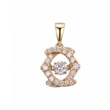 Twinkle Diamond Pendant 18K Yellow Gold