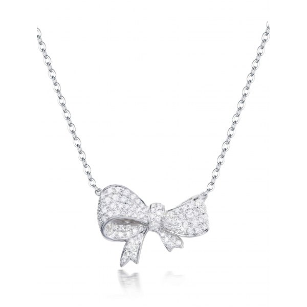 Sind Pave Diamond Necklace
