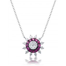 Spencer Cluster Diamond Necklace