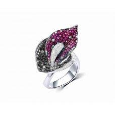 Anubis Pave Ruby Diamond Ring