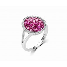 Thoth Prong Ruby Diamond Ring