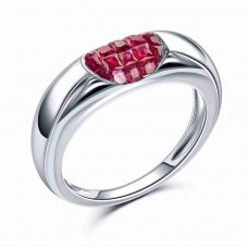 Horus Invisibe Ruby White Gold Ring