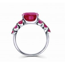 Shu Prong Ruby White Gold Ring