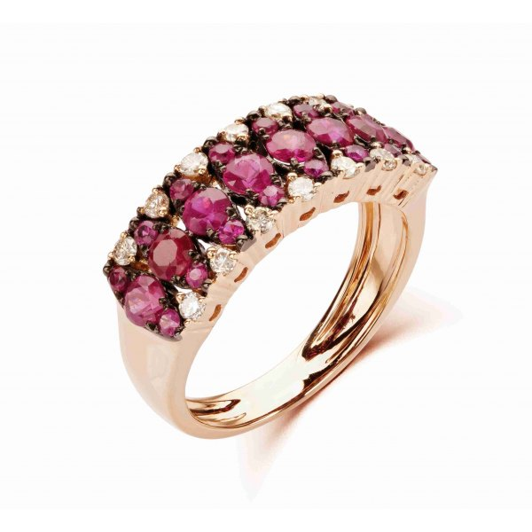 Khepri Prong Ruby Diamond Ring