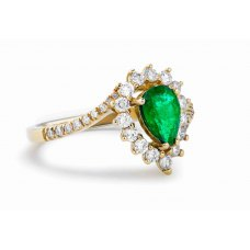Khonsu Prong Emerald Diamond Ring