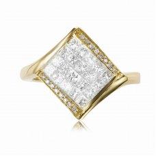 Aten Prong Princess Diamond Ring