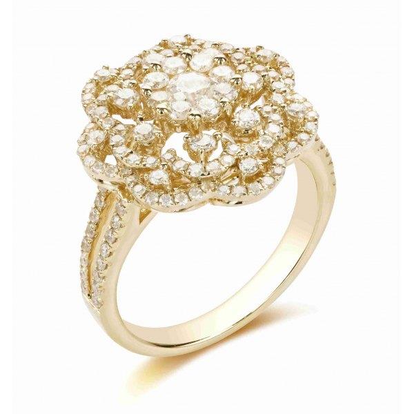 Resheph Prong Round Diamond Ring