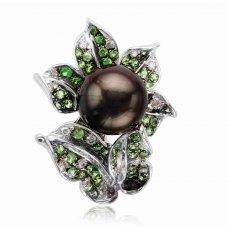 Heka Pearl Green Garnet Diamond Ring