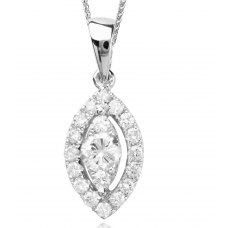 Mizel Diamond Pendant 18K White Gold