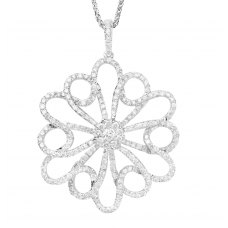 Brillo Channel Diamond Pendant 18K White Gold